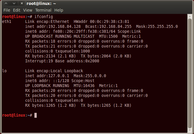 Linux IP Config